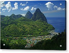 Midday- Pitons- St Lucia Acrylic Print
