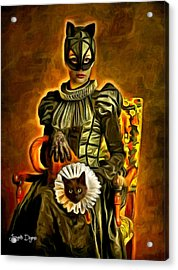 Middle Ages Catwoman - Da Acrylic Print by Leonardo Digenio