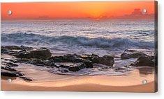 Middle Beach Sunrise Acrylic Print
