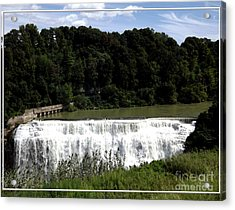Acrylic Print featuring the photograph Middle Falls In Rochester New York by Rose Santuci-Sofranko