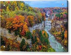 Middle Falls Peak Acrylic Print by Mark Papke