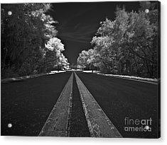 Middle Line Acrylic Print by Rolf Bertram