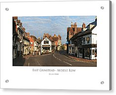 Acrylic Print featuring the digital art Middle Row East Grinstead by Julian Perry