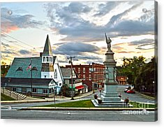 Middlebury Vermont At Sunset Acrylic Print by Catherine Sherman