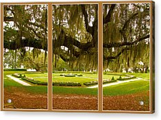 Acrylic Print featuring the photograph Middleton Gardens Triptych by Bill Barber