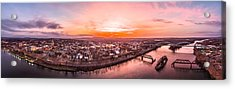 Middletown Connecticut Sunset Acrylic Print by Petr Hejl