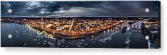 Middletown Ct, Twilight Panorama Acrylic Print