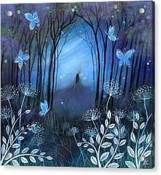Midnight Acrylic Print by Amanda Clark