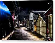 Midnight At The Boathouse Acrylic Print by William Norton