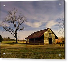 Midnight At The Mule Barn Acrylic Print by George Randy Bass