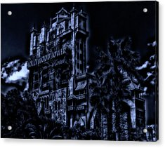 Midnight At The Tower Of Terror Mp Acrylic Print by Thomas Woolworth