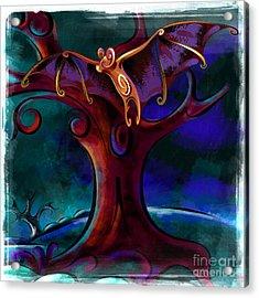 Midnight Bat Acrylic Print