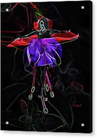 Midnight Bloom Acrylic Print by Torie Tiffany