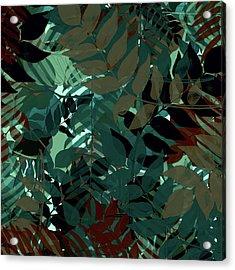 Midnight Botanical Acrylic Print by Bonnie Bruno