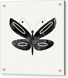 Midnight Butterfly 1- Art By Linda Woods Acrylic Print