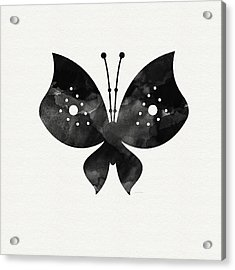 Midnight Butterfly 2- Art By Linda Woods Acrylic Print by Linda Woods