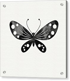 Midnight Butterfly 3- Art By Linda Woods Acrylic Print