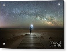 Midnight Explorer At Assateague Island Acrylic Print