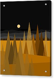 Midnight Gold Acrylic Print