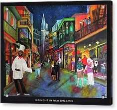 Midnight In New Orleans Acrylic Print