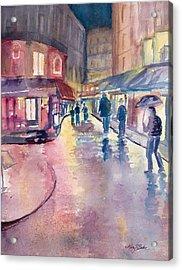 Midnight In Paris Acrylic Print by Mary Benke