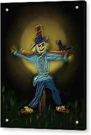 Acrylic Print featuring the painting Midnight In The Cornfield by Kevin Caudill