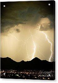 Midnight Lightning Storm Acrylic Print