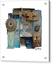 Midnight Mechanism Acrylic Print by Scott Rolfe