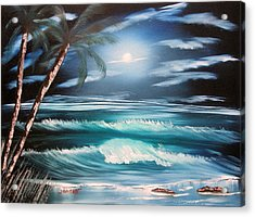 Midnight Ocean Acrylic Print by Sheldon Morgan