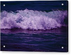 Midnight Ocean Wave In Ultra Violet Acrylic Print