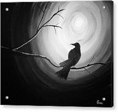 Midnight Raven Noir Acrylic Print