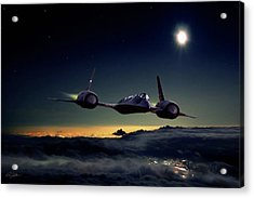 Midnight Rider Acrylic Print by Peter Chilelli