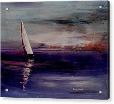 Midnight Sail Acrylic Print by Beth Maddox