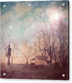 Expansion-midnight Saxophone Magic Acrylic Print