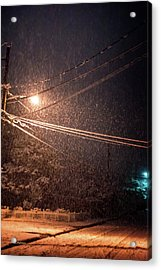 Midnight Snow Acrylic Print by Mick Anderson