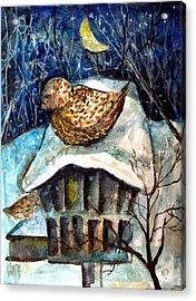 Midnight Sparrow Acrylic Print