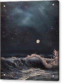 Midnight Surf  Acrylic Print