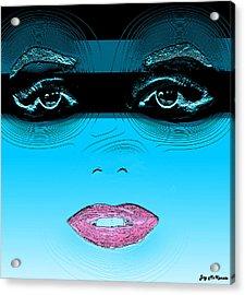 Midnight Swim Acrylic Print by Joy McKenzie