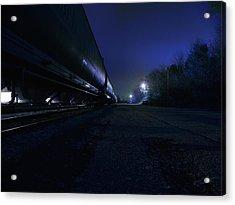 Midnight Train 1 Acrylic Print by Scott Hovind
