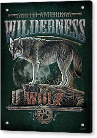 Midnight Wolf Sign Acrylic Print by JQ Licensing