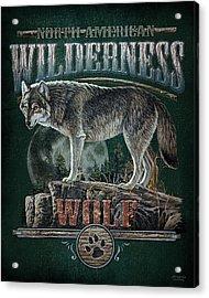 Midnight Wolf Sign Acrylic Print