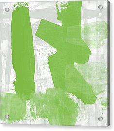Midori- Abstract Art By Linda Woods Acrylic Print by Linda Woods