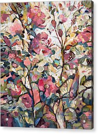 Midsummer Hollyhocks Acrylic Print