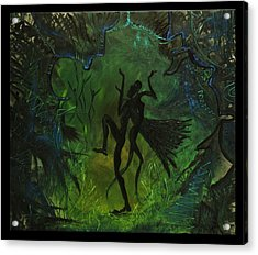 Midsummer Night Acrylic Print by Zsuzsa Sedah Mathe