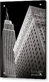 Acrylic Print featuring the photograph Midtown Empire by John Rizzuto