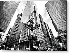 Acrylic Print featuring the photograph Midtown by John Rizzuto