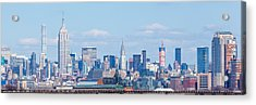 Midtown Manhattan Skyline Acrylic Print by Erin Cadigan