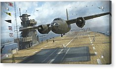 Midway Marauder - Painterly Acrylic Print by Robert Perry