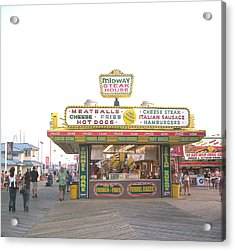 Midway Steak House - The Boardwalk At Seaside Acrylic Print by Bob Palmisano