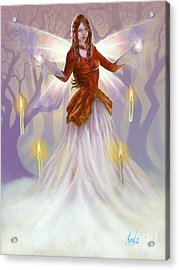 Acrylic Print featuring the painting Midwinter Blessings by Amyla Silverflame